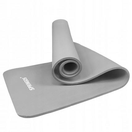 Коврик (мат) для йоги та фітнесу Springos NBR 1 см YG0032 Grey