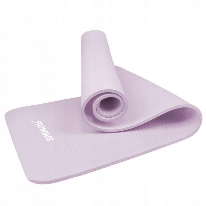 Коврик (мат) для йоги та фітнесу Springos NBR 1 см YG0038 Purple