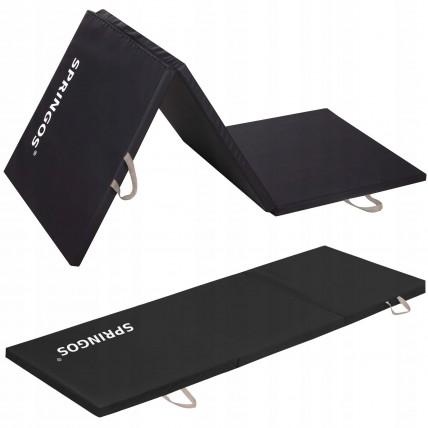 Мат гімнастичний складний Springos 180 x 60 x 3 cм FA0060 Black