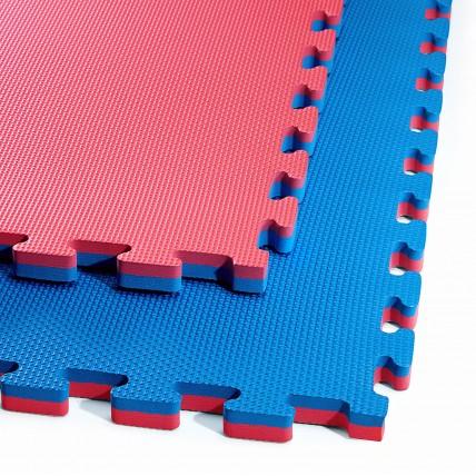 Мат-пазл (ласточкин хвіст) 4FIZJO Mat Puzzle EVA 100 x 100 x 2 cм 4FJ0167 Blue/Red