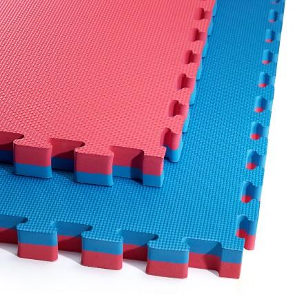 Мат-пазл (ласточкин хвіст) 4FIZJO Mat Puzzle EVA 100 x 100 x 4 cм 4FJ0169 Blue/Red