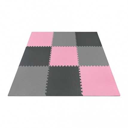 Мат-пазл (ласточкин хвіст) 4FIZJO Mat Puzzle EVA 180 x 180 x 1 cм 4FJ0157 Black/Grey/Pink