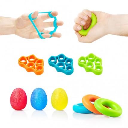 Набір еспандерів 9 шт для пальців та зап'ястя 4FIZJO 4FJ0133