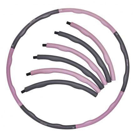 Обруч масажний Hula Hoop SportVida 100 см 1.2 кг SV-HK0338 Grey/Pink