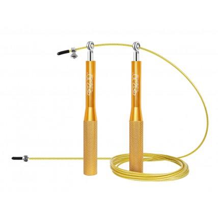 Скакалка швидкісна для кросфіту 4FIZJO Speed Rope 4FJ0185 Gold
