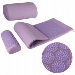 Коврик акупунктурный с валиком SportVida Аппликатор Кузнецова 130 x 50 см SV-HK0411 Purple/Purple