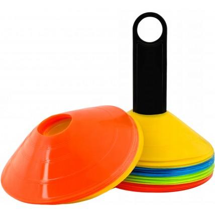 Конуси для розмітки 4FIZJO фішки спортивні для тренувань 50 шт в чохлі 4FJ0244
