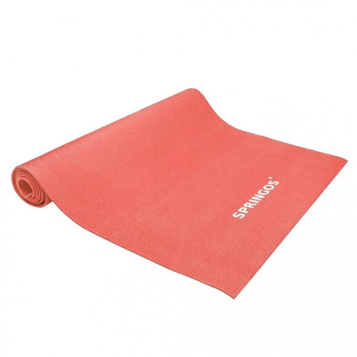 Коврик (мат) для йоги и фитнеса Springos PVC 4 мм YG0036 Red