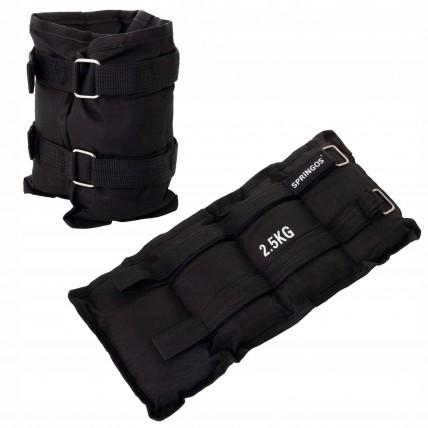 Обважнювачі-манжети для ніг та рук Springos 2 x 2.5 кг FA0007
