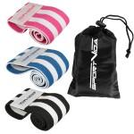 Резинка для фітнесу та спорту із тканини SportVida Hip Band 3 штуки SV-HK0364