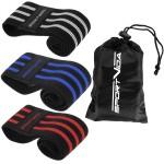 Резинка для фітнесу та спорту із тканини SportVida Hip Band 3 штуки SV-HK0366