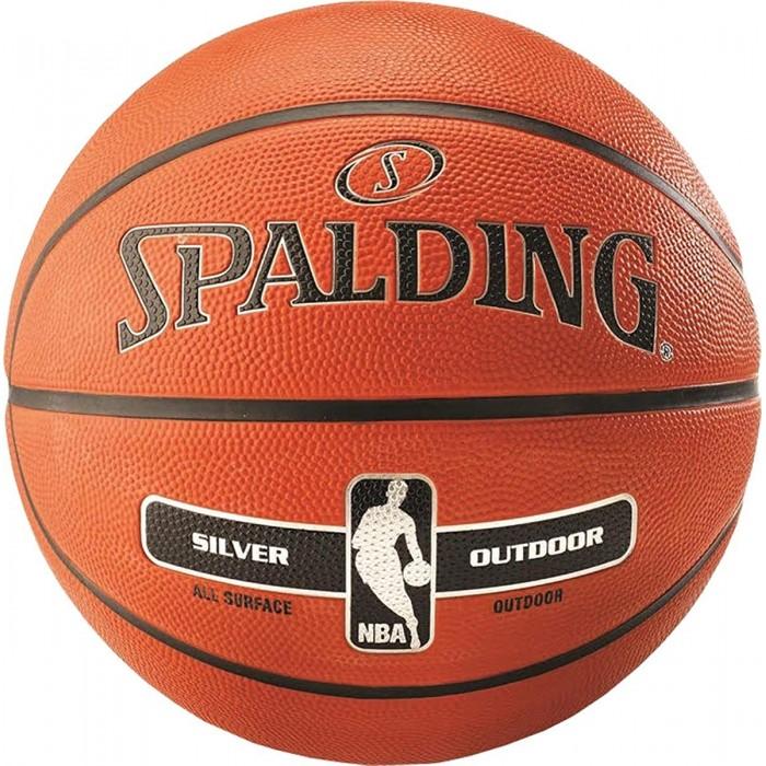 Мяч баскетбольный Spalding NBA Silver Outdoor Size 6