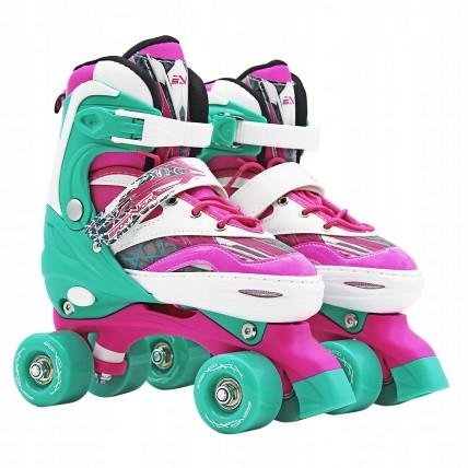 Роликові ковзани (квади) SportVida SV-LG0039 Size 31-34 Pink/Green