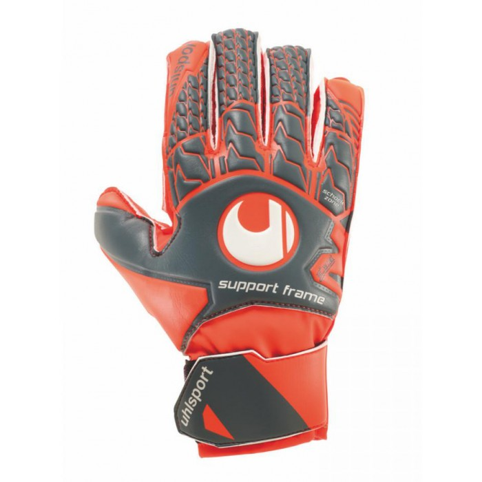 Воротарські рукавички Uhlsport Aerored Soft SF Junior Size 6 Orange/Grey