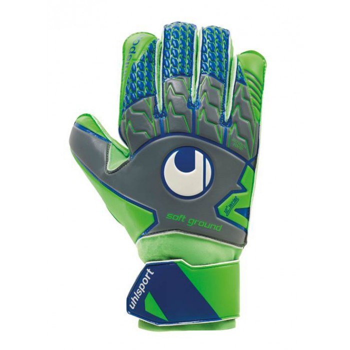 Вратарские перчатки Uhlsport Tensiongreen Soft Pro Size 7 Green/Blue