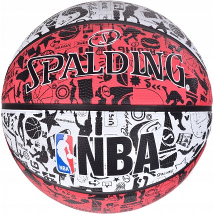 Мяч баскетбольный Spalding NBA Graffiti Outdoor White/Red Size 7